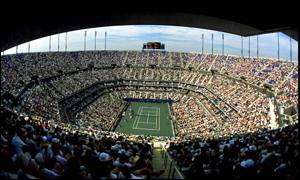 The giant Arthur Ashe Stadium
