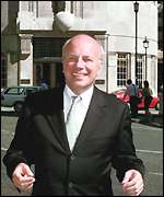 Greg Dyke outside BBC Broadcasting House