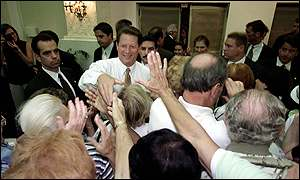 Al Gore with Florida voters