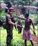 British soldier in Sierra Leone
