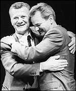 Slobodan Milosevic and Ivan Stambolic