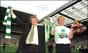 image: [ Wim Jansen and Murdo McLeod celebrate ending Rangers dominance ]