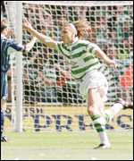 [ image: Henrik Larsson set the ball rolling by scoring after 3 minutes]