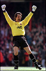 [ image: England and Arsenal keeper David Seaman was sceptical at first]