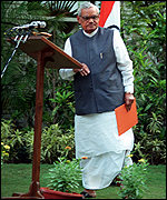 [ image: Prime Minister Vajpayee has ended the vagueness]