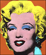 [ image: Andy Warhol's 'Orange Marilyn']