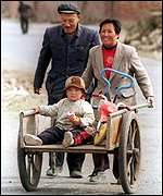 Chinese farming family