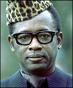 Mobutu wearing a cravat