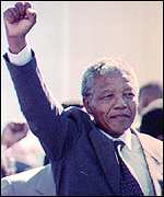 Mandela walks free from jail in 1990