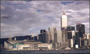Hong Kong harbour skyline