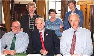 Key members of the Tory shadow cabinet