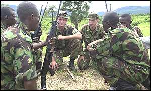 British troops training Sierra Leone soldiers