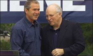 Bush and Cheney in Nashville Illinois