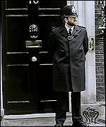 Police officer at 10 Downing Street