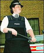 Police officer in body armour