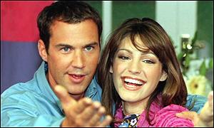 Johnny Vaughan and Kelly Brook
