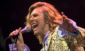 David Bowie at the Glastonbury festival 2000