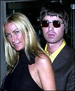 Meg Mathews and Noel Gallagher