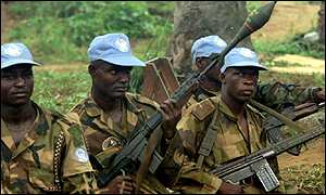 Nigerian UN troops in Sierra Leone