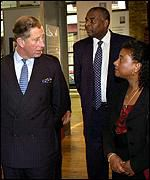 Doreen and Neville Lawrence meeting Prince Charles