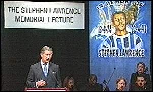 Prince Charles giving memorial lecture
