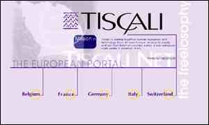 Tiscali home page