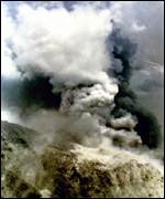 mount pinatubo smoking