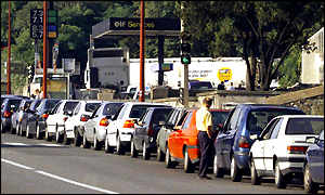 Fuel queues in France