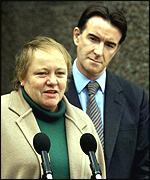 Mo Mowlam makes her farewell speech as NI secretary