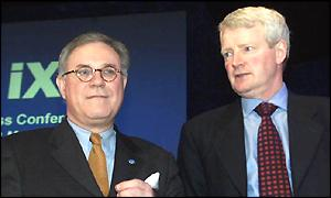 Deutsche B�rse's Werner Seifert, and Don Cruickshank (right)