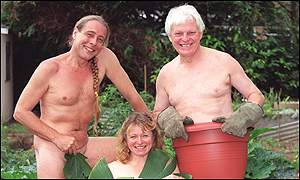 Bob Flowerdew, Anne Swithinbank and  Roy Lancaster