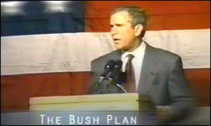 A still from Mr Bush's controversial campaign ad