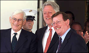 Seamus Mallon and David Trimble met President Clinton at the Whitehouse in September