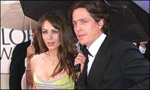 Liz Hurley and Hugh Grant at the 2000 Golden Globes