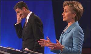 Rick Lazio Republican candidate vs Hilary Clinton Democratic candidate for New York State