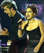 Ricky Martin and Gloria Estefan