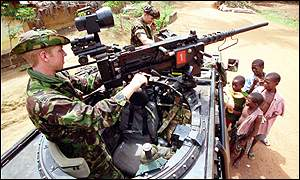 British troops in Sierra Leone