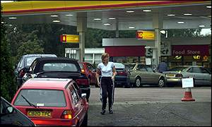 Petrol station at Garston, Hertfordshire