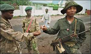 Rebel soliders, DR Congo