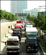 Truckers in Barcelona