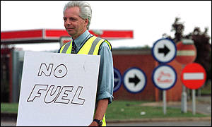 A petrol worker in Devon