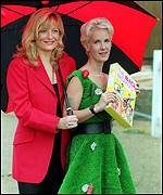 Gaby Roslin and Paula Yates