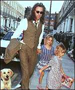 Bob Geldof with the couple's two younger children