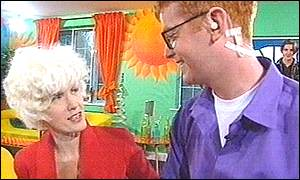 Paula Yates and Chris Evans