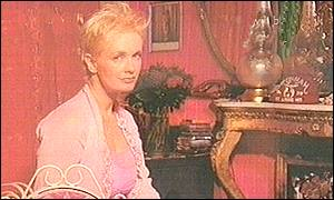 Paula Yates at her Notting Hill home