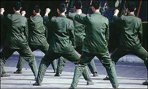 Soldiers in China take part in Tai Chi classes
