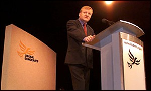 Charles Kennedy addresses the conference