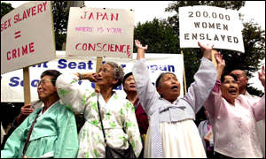 Comfort woman campaigners protest in Washington
