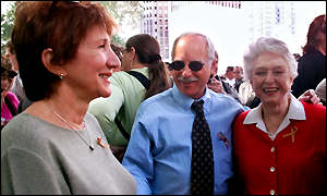 Olympia Dukakis, talks with Richard Dreyfuss, and Celeste Holm