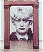 Marcus Harvey's Sensation painting of Myra Hindley